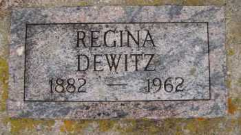 DEWITZ, REGINA - Moody County, South Dakota | REGINA DEWITZ - South Dakota Gravestone Photos