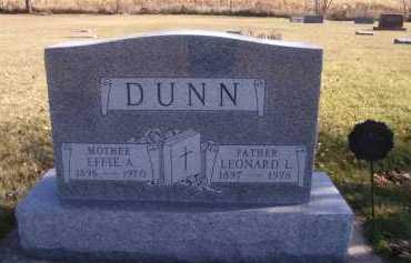 DUNN, EFFIE A - Moody County, South Dakota | EFFIE A DUNN - South Dakota Gravestone Photos