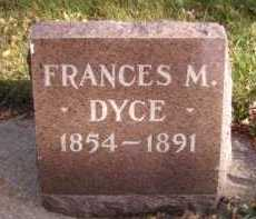DYCE, FRANCES M - Moody County, South Dakota | FRANCES M DYCE - South Dakota Gravestone Photos