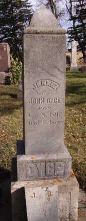DYCE, JENNIE - Moody County, South Dakota   JENNIE DYCE - South Dakota Gravestone Photos