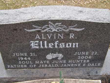 ELLEFSON, ALVIN R (CLOSEUP) - Moody County, South Dakota | ALVIN R (CLOSEUP) ELLEFSON - South Dakota Gravestone Photos