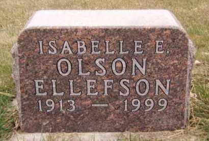 ELLEFSON, ISABELLE E - Moody County, South Dakota | ISABELLE E ELLEFSON - South Dakota Gravestone Photos