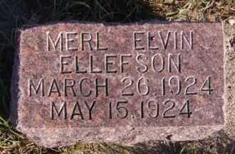 ELLEFSON, MERL ELVIN - Moody County, South Dakota | MERL ELVIN ELLEFSON - South Dakota Gravestone Photos