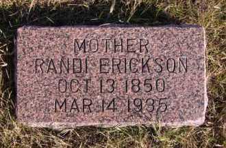ERICKSON, RANDI - Moody County, South Dakota | RANDI ERICKSON - South Dakota Gravestone Photos