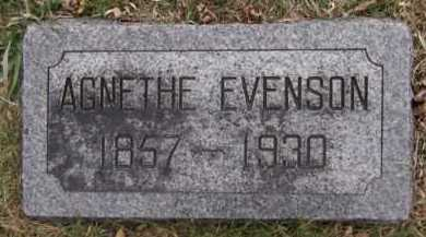 EVENSON, AGNETHE - Moody County, South Dakota | AGNETHE EVENSON - South Dakota Gravestone Photos