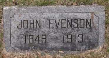 EVENSON, JOHN - Moody County, South Dakota   JOHN EVENSON - South Dakota Gravestone Photos