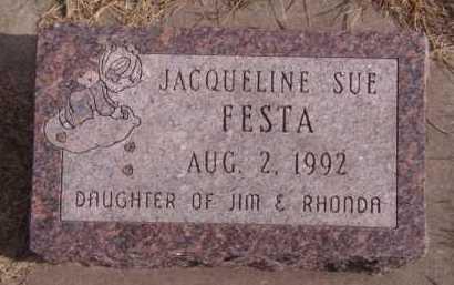 FESTA, JACQUELINE SUE - Moody County, South Dakota | JACQUELINE SUE FESTA - South Dakota Gravestone Photos