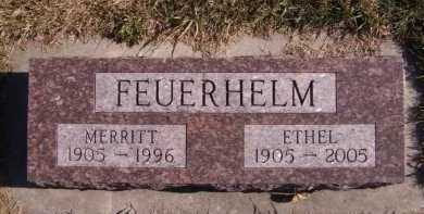 FEUERHELM, MERRITT - Moody County, South Dakota | MERRITT FEUERHELM - South Dakota Gravestone Photos