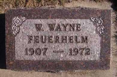 FEUERHELM, W WAYNE - Moody County, South Dakota | W WAYNE FEUERHELM - South Dakota Gravestone Photos