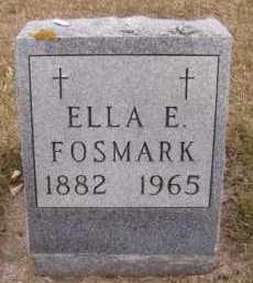 FOSMARK, ELLA E - Moody County, South Dakota | ELLA E FOSMARK - South Dakota Gravestone Photos