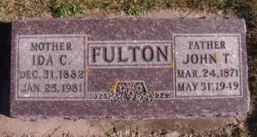 FULTON, JOHN T - Moody County, South Dakota | JOHN T FULTON - South Dakota Gravestone Photos