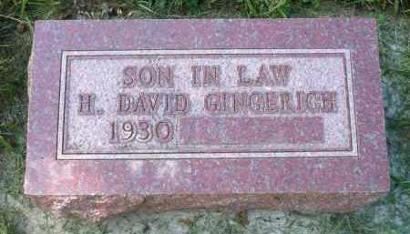 GINGERICH, H. DAVID - Moody County, South Dakota | H. DAVID GINGERICH - South Dakota Gravestone Photos