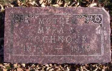 GOCHNOUR, MYRA M - Moody County, South Dakota | MYRA M GOCHNOUR - South Dakota Gravestone Photos