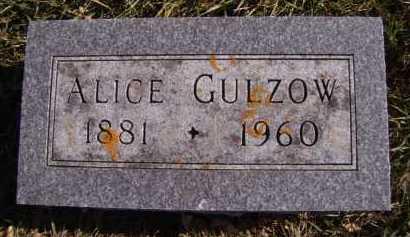 GULZOW, ALICE - Moody County, South Dakota   ALICE GULZOW - South Dakota Gravestone Photos