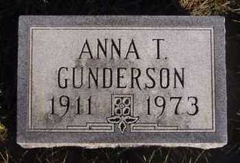 GUNDERSON, ANNA T - Moody County, South Dakota | ANNA T GUNDERSON - South Dakota Gravestone Photos