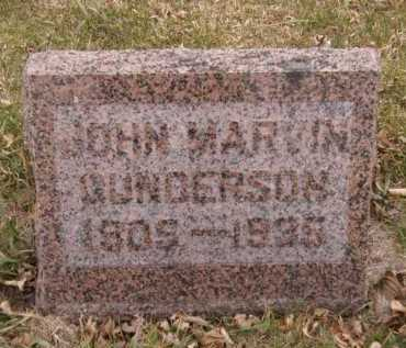 GUNDERSON, JOHN MARVIN - Moody County, South Dakota   JOHN MARVIN GUNDERSON - South Dakota Gravestone Photos