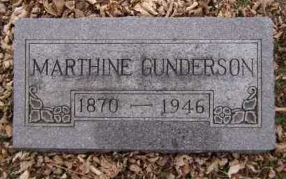 GUNDERSON, MARTHINE - Moody County, South Dakota | MARTHINE GUNDERSON - South Dakota Gravestone Photos