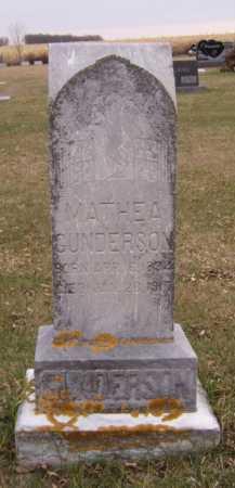 GUNDERSON, MARTHEA - Moody County, South Dakota | MARTHEA GUNDERSON - South Dakota Gravestone Photos