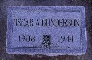 GUNDERSON, OSCAR A - Moody County, South Dakota | OSCAR A GUNDERSON - South Dakota Gravestone Photos