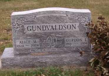GUNDVALDSON, ALICE M - Moody County, South Dakota | ALICE M GUNDVALDSON - South Dakota Gravestone Photos