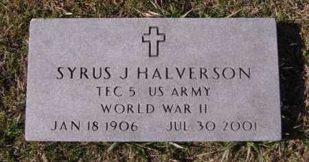 HALVERSON, SYRUS J (MILITARY) - Moody County, South Dakota | SYRUS J (MILITARY) HALVERSON - South Dakota Gravestone Photos