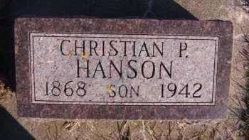 HANSON, CHRISTIAN P - Moody County, South Dakota   CHRISTIAN P HANSON - South Dakota Gravestone Photos