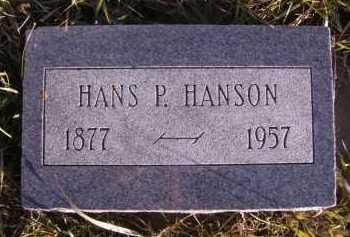 HANSON, HANS P - Moody County, South Dakota   HANS P HANSON - South Dakota Gravestone Photos