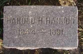 HANSON, HAROLD H - Moody County, South Dakota | HAROLD H HANSON - South Dakota Gravestone Photos