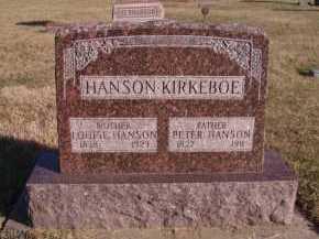 HANSON, LOUISE - Moody County, South Dakota | LOUISE HANSON - South Dakota Gravestone Photos