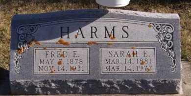 HARMS, SARAH E - Moody County, South Dakota | SARAH E HARMS - South Dakota Gravestone Photos
