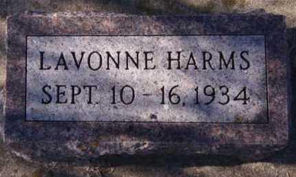 HARMS, LAVONNE - Moody County, South Dakota | LAVONNE HARMS - South Dakota Gravestone Photos