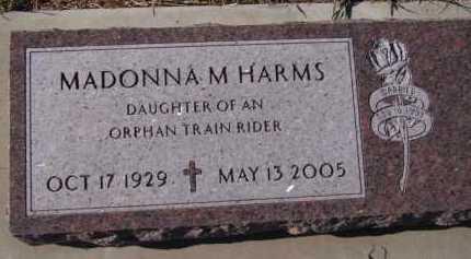HARMS, MADONNA M - Moody County, South Dakota   MADONNA M HARMS - South Dakota Gravestone Photos