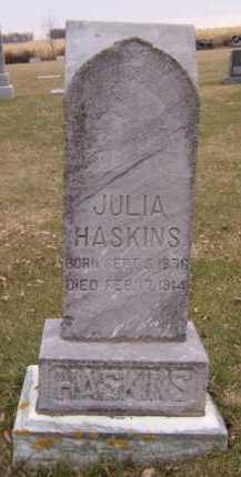 GUNDERSON HASKINS, JULIA - Moody County, South Dakota | JULIA GUNDERSON HASKINS - South Dakota Gravestone Photos