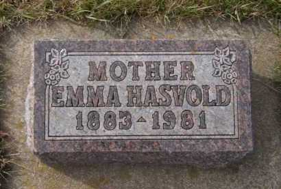 HASVOLD, EMMA - Moody County, South Dakota | EMMA HASVOLD - South Dakota Gravestone Photos