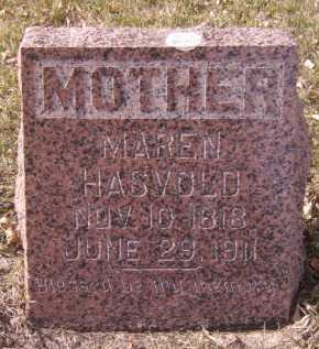 HASVOLD, MAREN - Moody County, South Dakota | MAREN HASVOLD - South Dakota Gravestone Photos