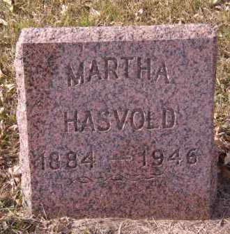 HASVOLD, MARTHA - Moody County, South Dakota | MARTHA HASVOLD - South Dakota Gravestone Photos