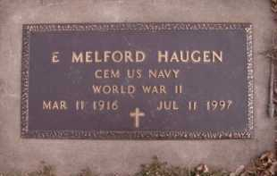 HAUGEN, E MELFORD (MILITARY) - Moody County, South Dakota | E MELFORD (MILITARY) HAUGEN - South Dakota Gravestone Photos