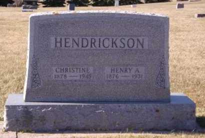 HENDRICKSON, CHRISTINE - Moody County, South Dakota   CHRISTINE HENDRICKSON - South Dakota Gravestone Photos