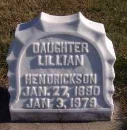 HENDRICKSON, LILLIAN - Moody County, South Dakota | LILLIAN HENDRICKSON - South Dakota Gravestone Photos