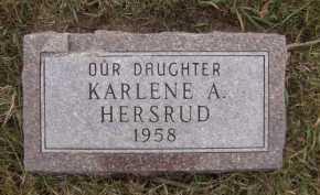 HERSRUD, KARLENE A - Moody County, South Dakota | KARLENE A HERSRUD - South Dakota Gravestone Photos