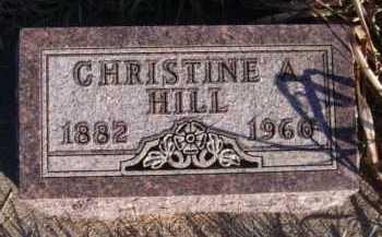 HILL, CHRISTINE A - Moody County, South Dakota | CHRISTINE A HILL - South Dakota Gravestone Photos