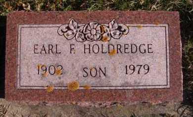 HOLDREDGE, EARL F - Moody County, South Dakota | EARL F HOLDREDGE - South Dakota Gravestone Photos