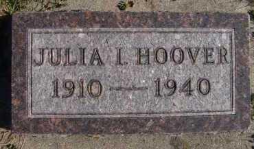 HOOVER, JULIA I - Moody County, South Dakota | JULIA I HOOVER - South Dakota Gravestone Photos