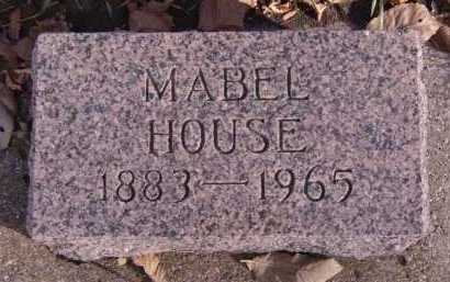 HOUSE, MABEL - Moody County, South Dakota   MABEL HOUSE - South Dakota Gravestone Photos