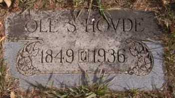 HOVDE, OLE S - Moody County, South Dakota | OLE S HOVDE - South Dakota Gravestone Photos
