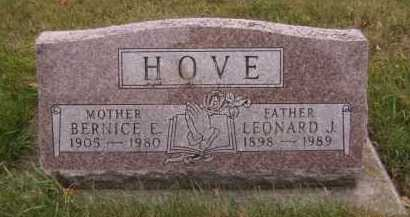 HOVE, BERNICE E - Moody County, South Dakota   BERNICE E HOVE - South Dakota Gravestone Photos