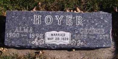 HOYER, ALMA - Moody County, South Dakota | ALMA HOYER - South Dakota Gravestone Photos