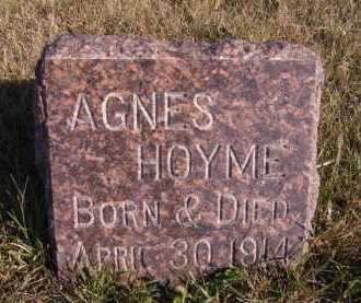 HOYME, AGNES - Moody County, South Dakota | AGNES HOYME - South Dakota Gravestone Photos