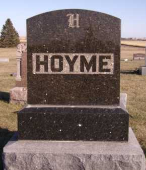 HOYME, FAMILY - Moody County, South Dakota | FAMILY HOYME - South Dakota Gravestone Photos