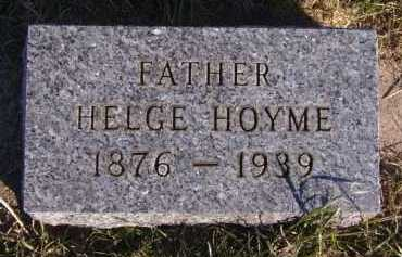 HOYME, HELGE - Moody County, South Dakota | HELGE HOYME - South Dakota Gravestone Photos